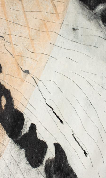 Bark Skin Painting Finger Detail